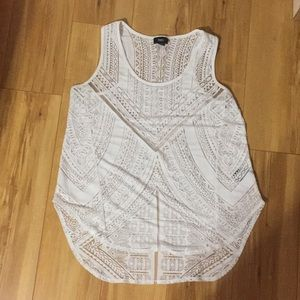 Mossimo white burnout blouse